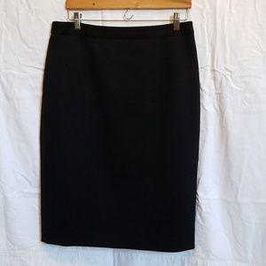 Pencil skirt with unique pleat